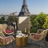 Le Bar à Ciel Ouvert by Krug au Shangri-La Hotel, Paris.