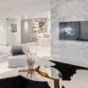 Un design d'intérieur aux tendances blanc et or