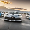 Trois Bugatti Divo en Californie