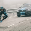 Le prototype Jaguar F-Pace sur le Tour de France.