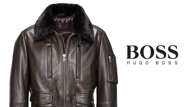 online shop picked up shades of The 7 exclusive journal La veste en cuir Hugo Boss Mille Miglia.