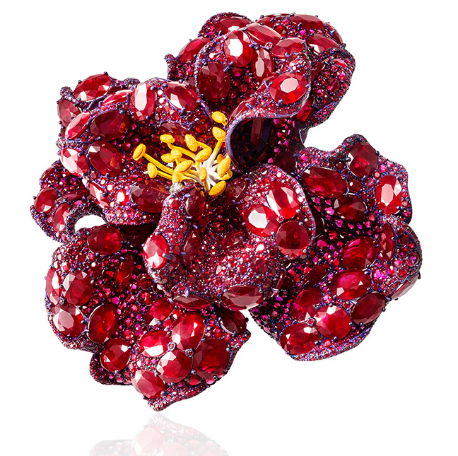 Cindy Chao The Art of Jewel - Peony Brooch