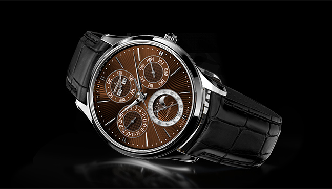 Jaeger LeCoultre Master Ultra Thin Perpetual Enamel Chestnut