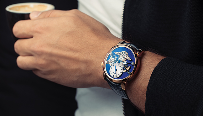 MB&F Legacy Machine N°2 Red Gold Blue