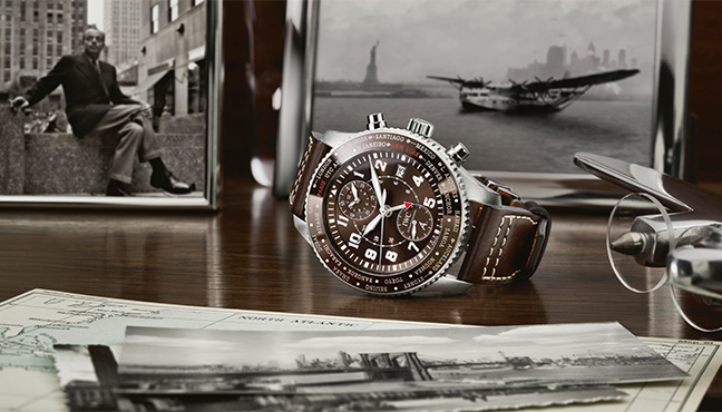 IWC Schaffhausen Timezoner Chronograph Edition 80 Years Flight to New York