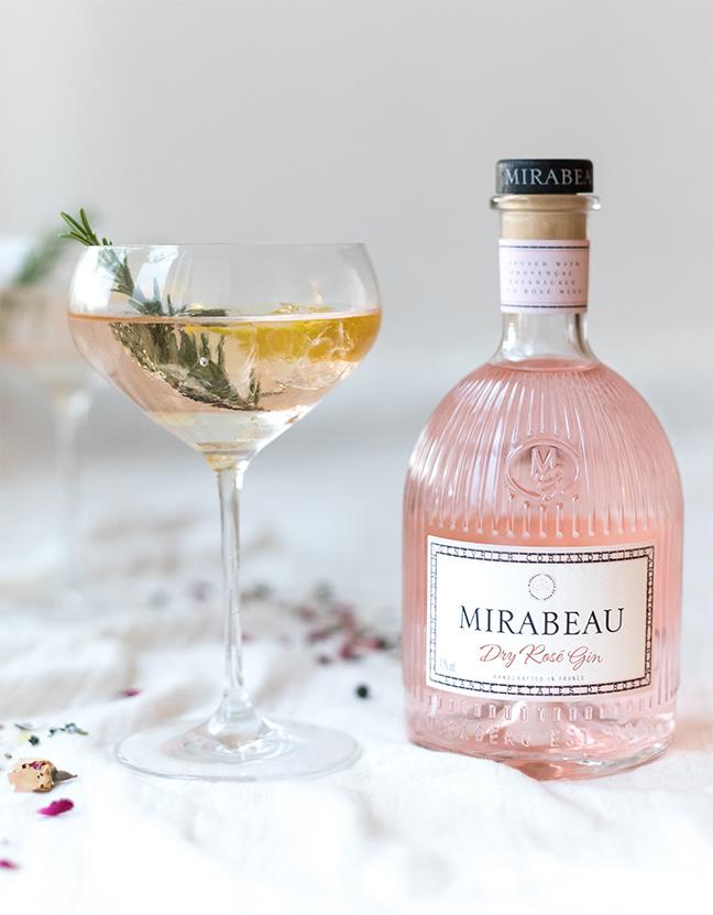 Gin rose Maison Mirabeau