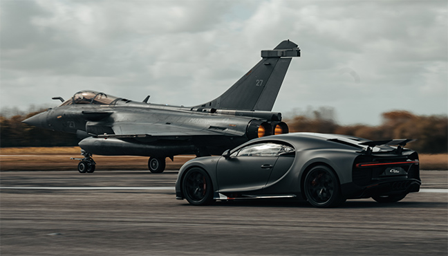 Bugatti Chiron Sport x Dassault Rafale Marine